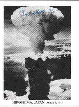 Paul Tibbetts Atomic Bomb Enola Gay signed photograph