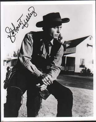 Deforest Kelley signed western photograph