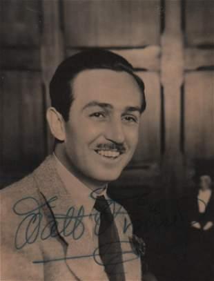 Walt Disney signed photograph
