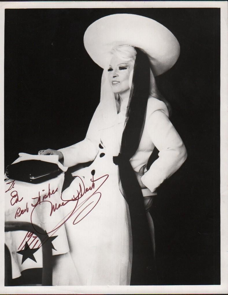 Mae West signed photograph