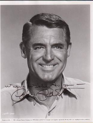 Cary Grant signed photograph