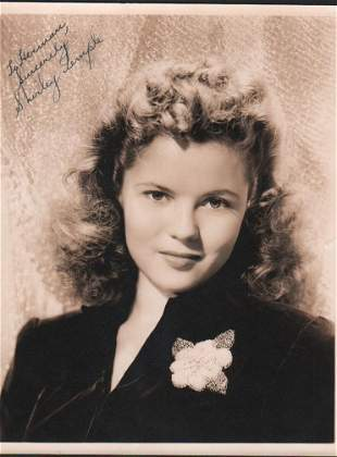 Shirley Temple vintage signed photograph