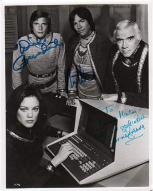 Battlestar Galactica rare cast signed photograph