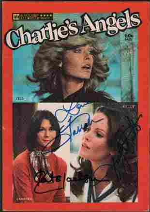 Charlies Angels Book signed by cast