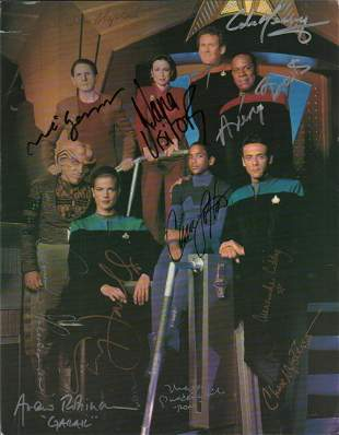 Star Trek Deep Space Nine cast signed photograph