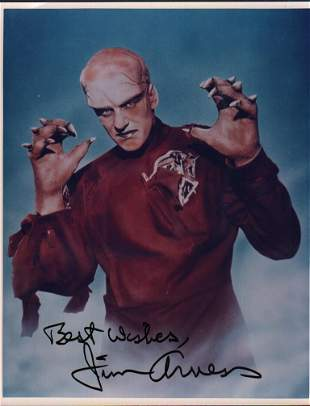 Jim Arness the Thing rare signed photograph