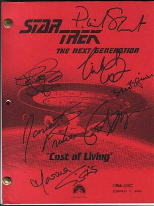 Statr Trek Next Generation cast signed script