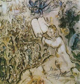 Marc Chagall print signed