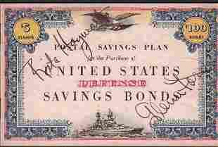Rita Hayworth Glenn Ford US Liberty Bond signed