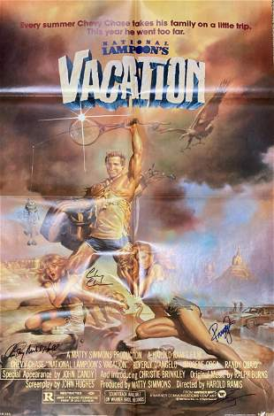 National Lampoons Vacation Poster signed