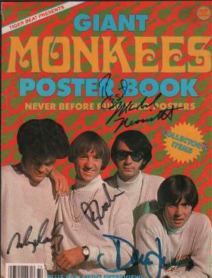 Monkees Poster Book signed