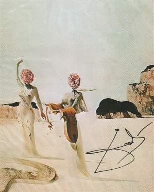 Salvadore Dali signed artwork