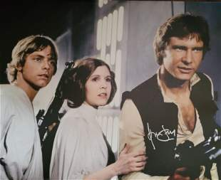 Harrison Ford Star Wars Signed 11x14 Canvas