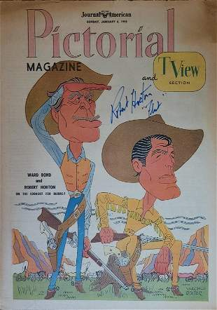 Robert Horton Signed Pictorial TV Guide