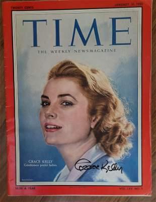 Grace Kelly Signed Time Magazine