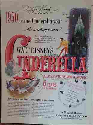 Walt Disney's Cinderella Poster