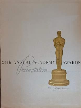 24th Annual Academy Awards Program