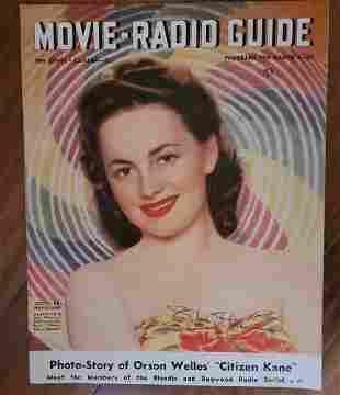 Olivia de Havilland Movie Radio Guide