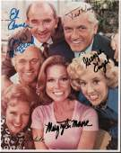 Mary Tyler Moore show cast signed photo