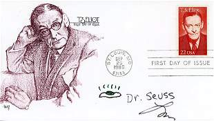 Dr. Seuss Signed FDC