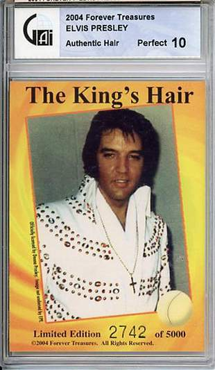 Elvis Presley Slabbed Hair Strand