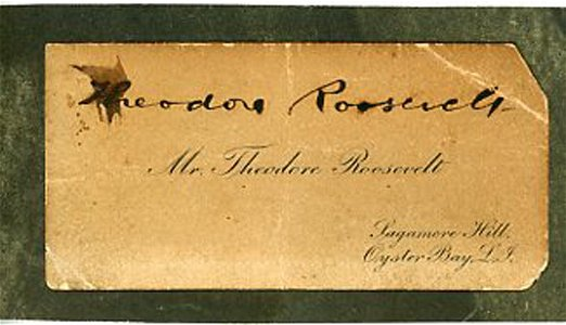 Theodore Roosevelt Signed Card