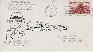 Chester Gould Dick Tracy Signed FDC