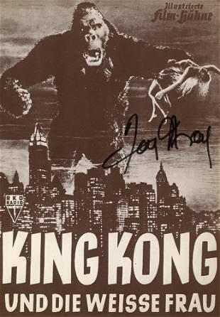 Fay Wray Signed German King Kong Article