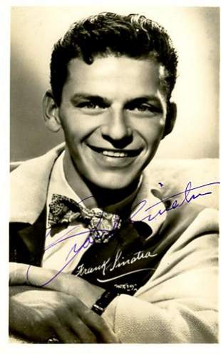 Frank Sinatra Signed Photo Postcard