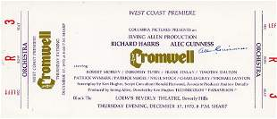 Alec Guinness Signed Cromwell Theatre Ticket