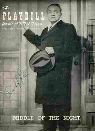 Edward G. Robinson Signed Playbill
