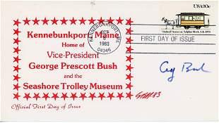 George Bush Signed FDC