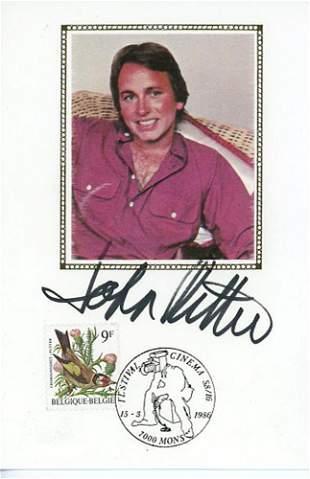 John Ritter Signed Card