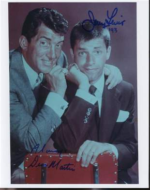 Jerry Lewis Dean Martin Signed Photo