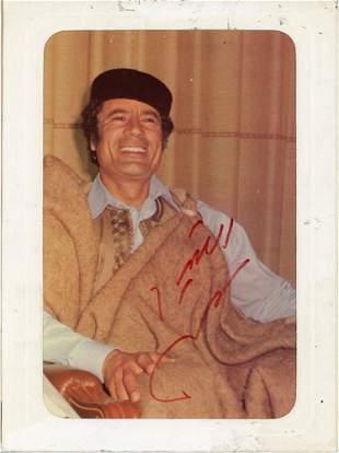 Momar Kadhaffi Signed Photo