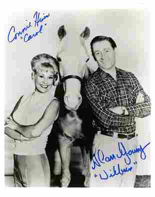 Alan Young Connie Hines Signed Photo