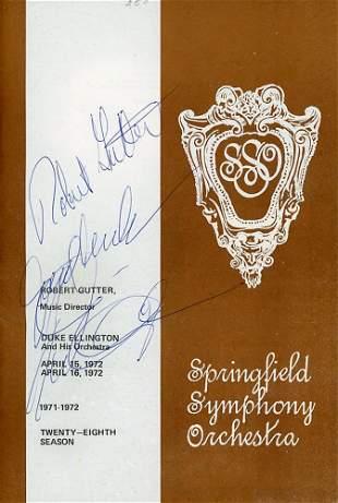 Duke Ellington Robert Gutter Signed Program