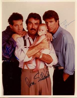 Tom Selleck Ted Danson Steve Guttenburg Signed Photo