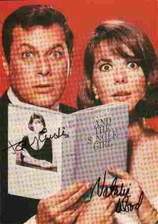 Natalie Wood Tony Curtis Signed Photo