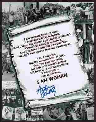 Helen Reddy Signed Photo