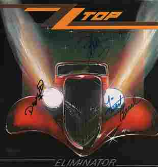 ZZ Top Signed LP Cover