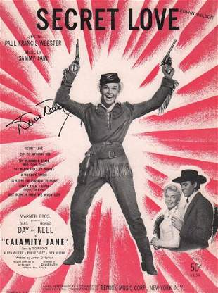 Doris Day Signed Sheet Music