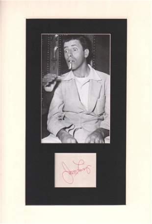 Jerry Lewis Signature Cut