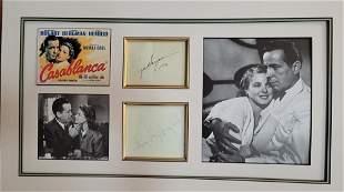 Ingrid Bergman Humphrey Bogart Signatures