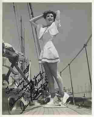Ann Rutherford signed photograph