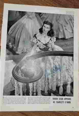 Viven Leigh Scarlett O'Hara Signed Gone with the Wind
