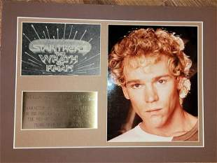 Merritt Butrick RARE Star Trek signed photograph