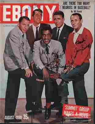 Rat Pack rare signed magazine cover