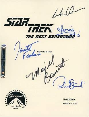 Star Trek Next Generation script signed