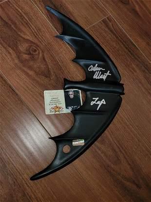 Batman Batarang signed by Adam West